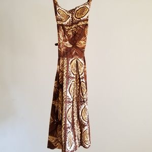 Vintage 60s NALLI FASHIONS Tropical Cocktail Dress